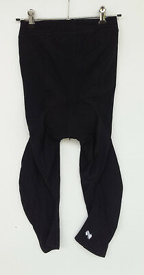 NETTI women's 3/4 length size 10 padded black cycling pants tights as new