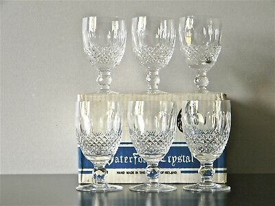 WATERFORD 'COLLEEN' Crystal. 6 wine glasses in original box.