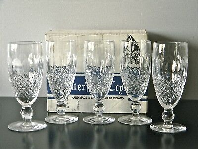 WATERFORD 'COLLEEN' Crystal. 5 Champagne glasses in original box.