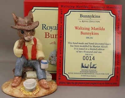 "Royal Doulton Bunnykins - ""Waltzing Matilda"" - DB236 - ***1 more at this price**"