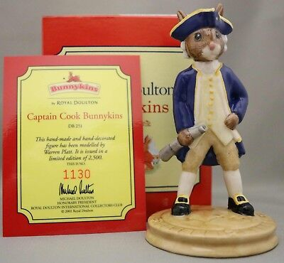 "Royal Doulton Bunnykins - ""Captain Cook"" - DB251 - Limited Edition, Box & cert.."