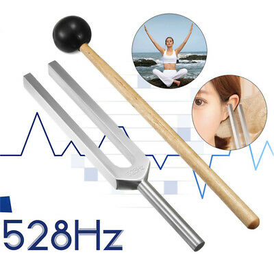 528Hz Medical Chakra Hammer Sound Healing Therapy Diagnostic Tuning Fork+Mallet