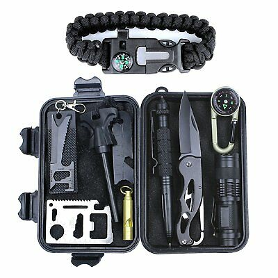 Survival Emergency Gear Kit 11 in 1 Outdoor Emergency Survival Kit Multi Tools