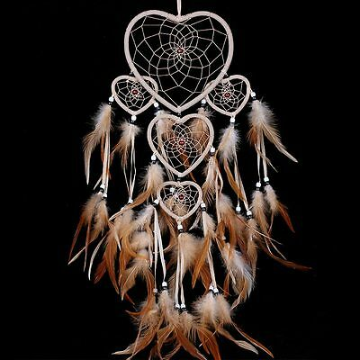 Handmade Dream Catcher with feathers car or wall hanging decoration ornament QM