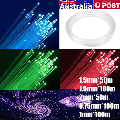 0.75mm/1mm/1.5mm/2mm PMMA Fiber Optic Cable End Glow for Star Ceiling Light Kit