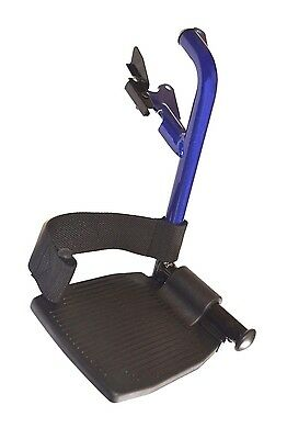 Invacare Alulite Leg Rests Foot Rests Spare Replacement Blue Swing Away