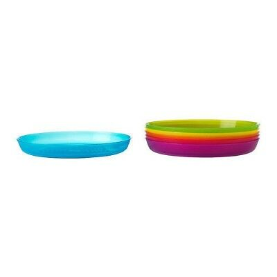 6x IKEA KALAS plastic Plate Dish set 6 colours for kids party picnic Kitchen