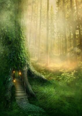 Magical Tree House Fantasy Forest Girls Bedroom Giant Poster - A4 A3 A2 A1 Sizes
