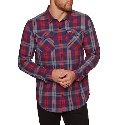 e8955a54c5795 SUPERDRY WASHBASKET HOMME Chemise - Gravel Red Check Toutes Tailles ...