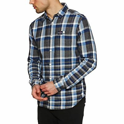 14adfa11bb149 Superdry Engineered Rookie Homme Chemise - Rivet Navy Check Toutes Tailles
