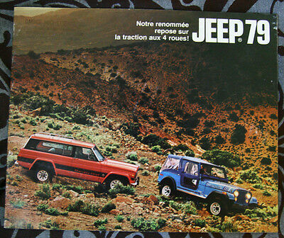 JEEP AMC 1979 dealer brochure - French - Canadian Market