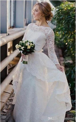 Long Sleeves Wedding Dresses 2018 New with Lace Detachable Train Overskirts Mode