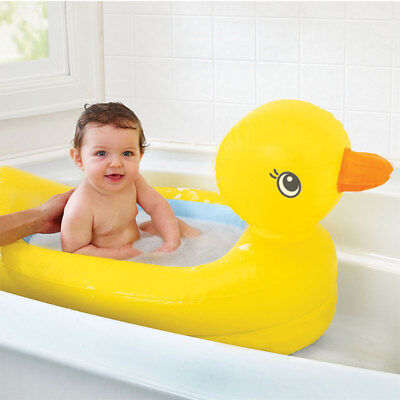 Inflatable Safety Baby Kid Duck Bath Travel Home Indoor Outdoor Pool Fun Summer