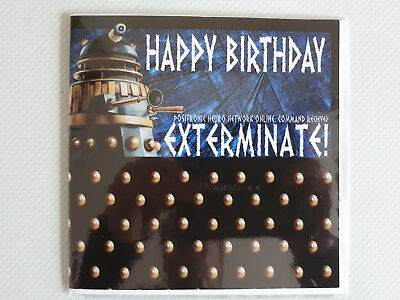 BBC DOCTOR WHO Happy Birthday EXTERMINATE Dalek TIMELORD GREETINGS Card ZONE