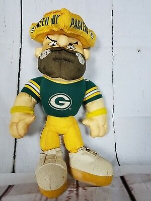 9b03b3588 VINTAGE GREEN BAY PACKERS-1996 STUFFINS PACKERS DOLL / CHEESE HEAD NFL  Wisconsin