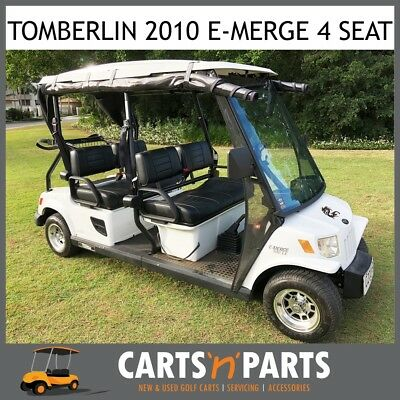 Tomberlin Golf Cart Buggy 2010 4 Forward Facing Seat White E-Merge Fast AC Motor