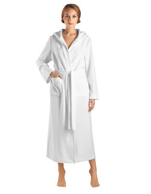 51bc60bf82 Hanro Selection White Cotton 130cm Hooded Robe 077304-0101 Large