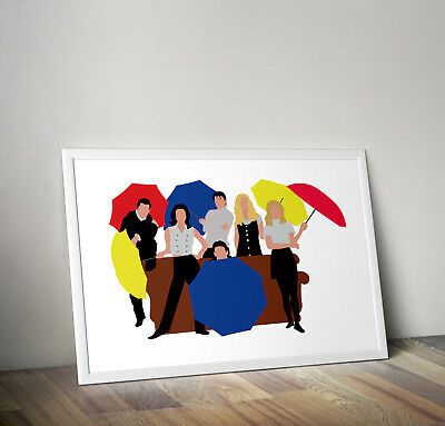 Friends tv show poster print wall art central perk I'll Be There for you