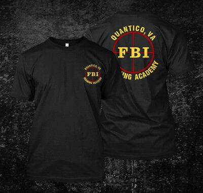 FBI Training Academy Quantico VA - Custom Men's T-Shirt Tee