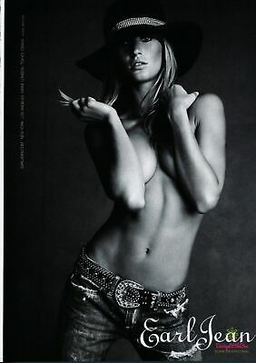 Print Ad~2004~Earl Jeans~Gisele Bundchen~Topless Cowgirl~Advertisement~H400