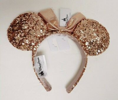 Disney Parks Rose Gold Minnie Mouse Ears New With Tags