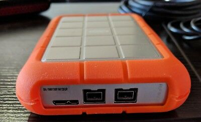 Lacie Rugged 1tb Usb 3 0 Firewire 800 X 2 Portable Hard