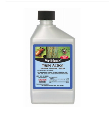 Triple Action Insecticide Fungicide Mix For Flowers And Vegetables 16oz = 16 Gal