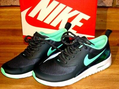 ba13a16d91 New With Box Nike Air Max Thea SE Anthracite/Green Glow Size 6Y Or Women's