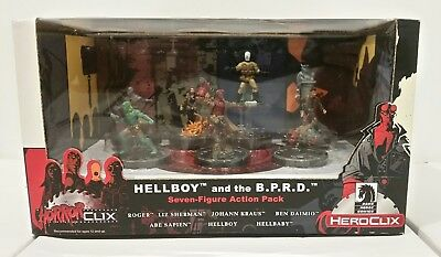 Hellboy and The B.P.R.D. Heroclix Horrorclix Seven-Figure Action Pack Wizkids