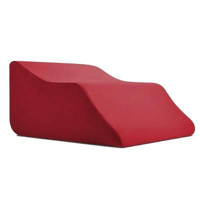 Lounge Doctor Elevating Leg Rest Pillow Wedge w/Cooling Gel Memory Foam and Wine