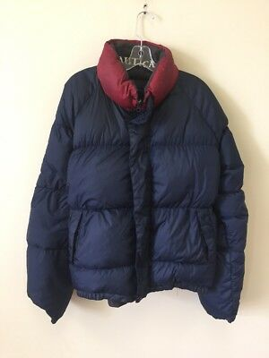 Vintage Nautica Sailing Reversible Down Insulated Puffer Jacket Size