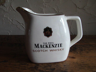 """Collectors China Water Jug Advertising """"mackenzie The Real Scotch Whisky"""".wade"""