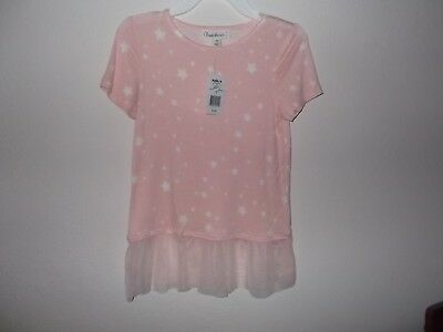 CLOUD CHASER - GIRLS - TOP - PINK STARS - SIZE SMALL    (AC-27-74x2)