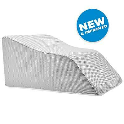 Lounge Doctor Elevating Leg Rest Pillow Wedge Foam w/Wine Cover -Foot pillow-Leg
