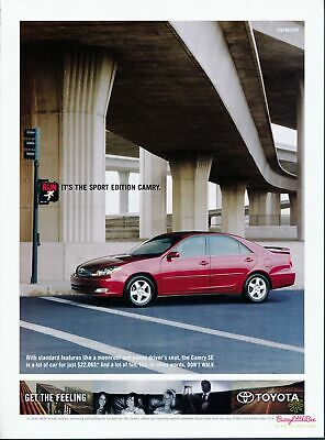 Print Ad~2004~Toyota~Camry SE~Advertisement~H400