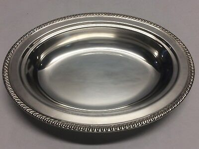 "11 1/2"" Silver Plated Oval Serving Bowl Dish Plate Marked w/ S Sheridan?"