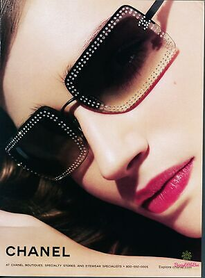 Print Ad~2004~Chanel~Eyewear~Sunglasses~Model~Advertisement~H400