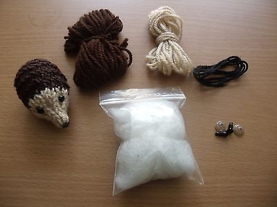 Toy Hedgehog Knitting Pattern And Complete Kit Reduced To Clear