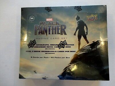 2018 Upper Deck Black Panther - Sealed Hobby Box -  Free Shipping In Us