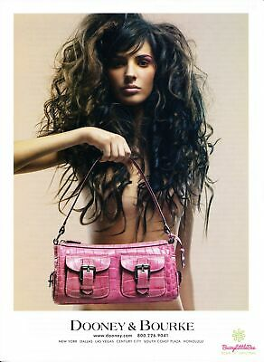 Print Ad~2004~Dooney & Bourke~Brunette~High Fashion~Advertisement~H400