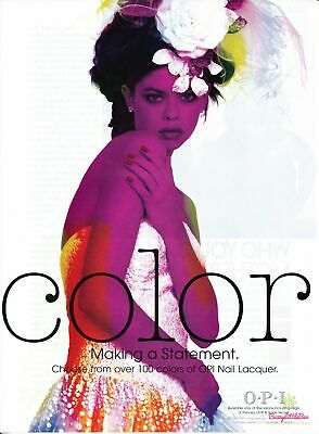 Print Ad~2004~OPI Color~Nail Lacquer~Colorful~Advertisement~H400