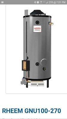 rheem commercial 100gal. Natural gas water heater. 2200$ obo