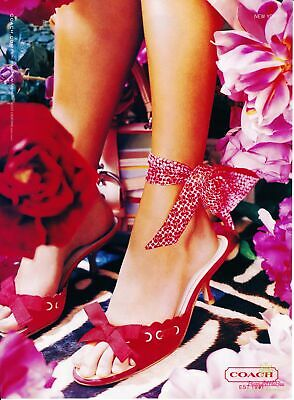 Print Ad~2004~Coach~Shoes~Feet~Floral~Flowers~Advertisement~H400