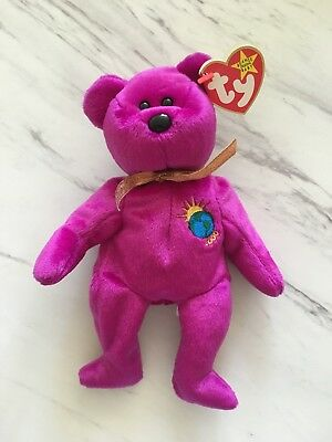 Millenium (misspelled Millennium) TY Beanie Baby - Spelling error on both  tags 96ad0705e6bd