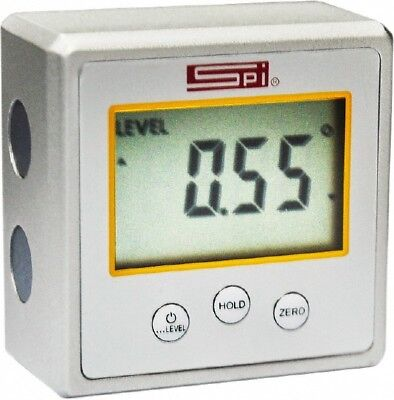 "SPI 11-983-4 Digital Electronic Mini Protractor Level Inclinometer 2.2""x2.2""x1.2"