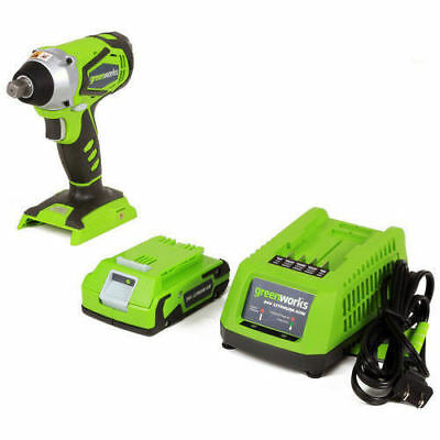 Greenworks 3800302 24V Cordless Lithium-Ion 2 Ah Impact Wrench w/ Batteries New