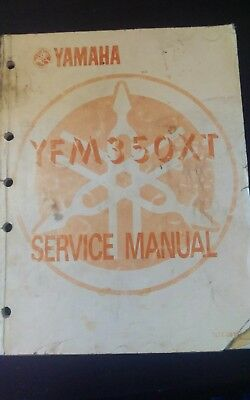 1987 87 Yamaha YFM350XT Warrior ATV Owner's Shop Service Repair Manual OEM Used