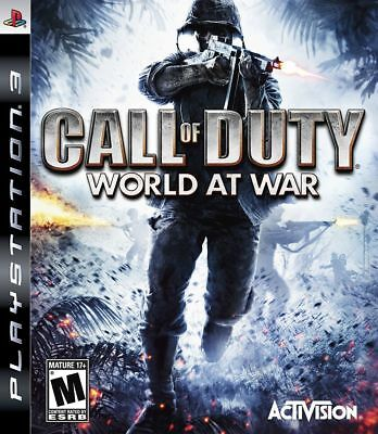 CALL OF DUTY WORLD AT WAR Sony Playstation 3 PS3 Game + Booklet PAL