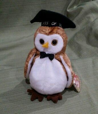 92f7a5904e9 Ty Beanie Baby Wisest the Class of 2000 Graduation Owl MWMT Retired