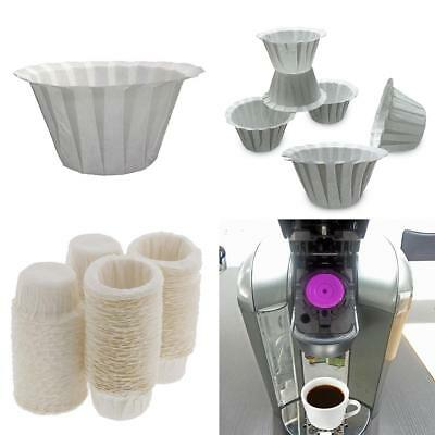 100pcs Paper Filters Cups Replacement K-Cup Filters For Keurig K-Cup Coffee Wo